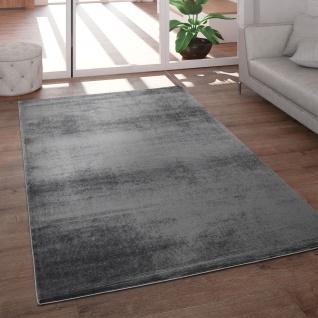 Teppich Wohnzimmer Kurzflor Modern Glanz Schimmer Effekt Weich Einfarbig Anthrazit
