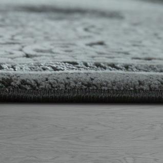 Orient Teppich Modern 3D Effekt Ornamente Meliert Grau Anthrazit Schwarz - Vorschau 3
