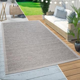 In- & Outdoor Teppich Balkon Terrasse Küchenteppich Modern Wellen Muster Beige