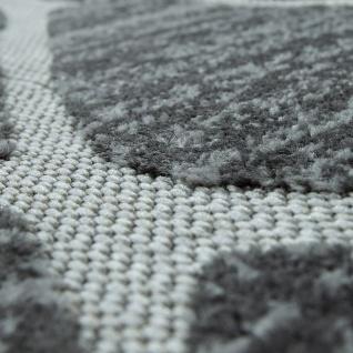 In- & Outdoor Terrassen Teppich Modernes Rauten Design Grau - Vorschau 3