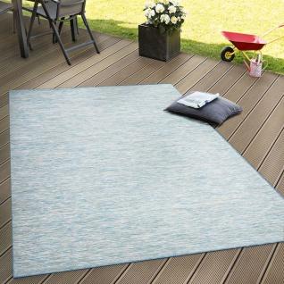 In- & Outdoor Flachgewebe Teppich Terrassen Teppiche Mit Farbverlauf In Blau