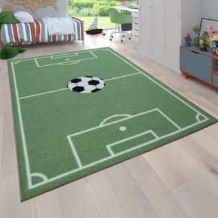 Kinder-Teppich, Spiel-Teppich Für Kinderzimmer Mit Fußball-Motiv, In Grün