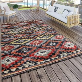 In- & Outdoor Teppich Modern Zickzack Muster Terrassen Teppich Bunt