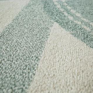 Kinderzimmer Teppich Grün Streifen Muster Pastell Stern Design Robust Kurzflor - Vorschau 3