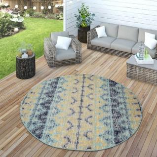 In- & Outdoor Teppich Modern Nomaden Design Terrassen Teppich Wetterfest Bunt - Vorschau 4