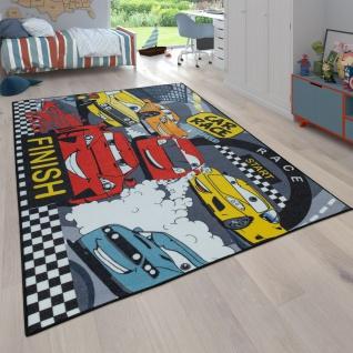 Kinder-Teppich, Teppich Mit Straßen-Design und Auto-Motiven, Wendbar, In Grau
