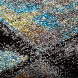 Designer Teppich Modern Wohnzimmer Ölgemälde Abstrakt Rost Optik In Blau Gelb - Vorschau 3