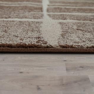 Designer Teppich Modern Trendiger Kurzflor Braun Beige Creme Meliert - Vorschau 2