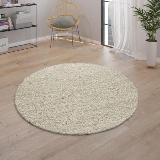Teppich Wohnzimmer Hochflor Modernes Einfarbiges Design Unifarben Creme - Vorschau 3