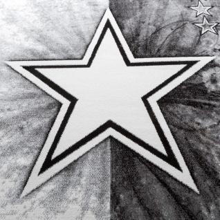 Teppich Kinderzimmer Stern Design Spielteppich Kinderteppich Kurzflor in Grau - Vorschau 3