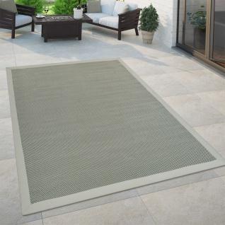 In- & Outdoor Teppich Balkon Küchenteppich Sisal Optik Einfarbig Grün Beige