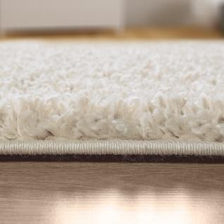 Teppich Wohnzimmer Hochflor Modernes Einfarbiges Design Unifarben Creme - Vorschau 5