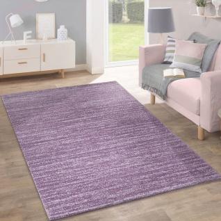 Teppich Kurzflor Modern Trendig Pastellfarben Design Meliert Einfarbig Lila