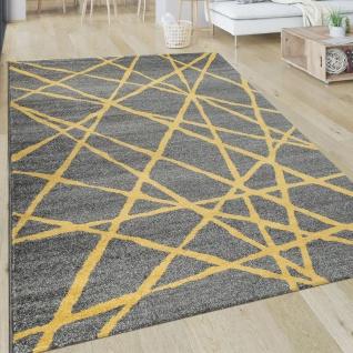 Teppich Wohnzimmer Muster Gestreift Modern Kurzflor Abstrakt Linien