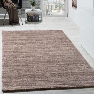Teppich Modern Wohnzimmer Kurzflor Gemütlich Meliert Preiswert in Beige