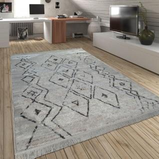 Wohnzimmer Teppich m. Rauten Muster, Skandinavischer Stil, Weich - Soft Garn - Vorschau 3