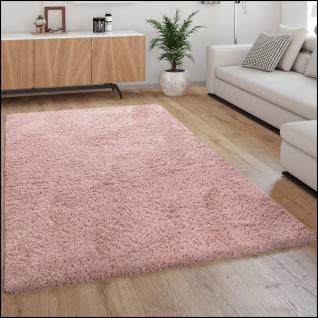 Hochflor-Teppich, Kuschelig Weicher Flokati-Teppich, Einfarbig In Rosa