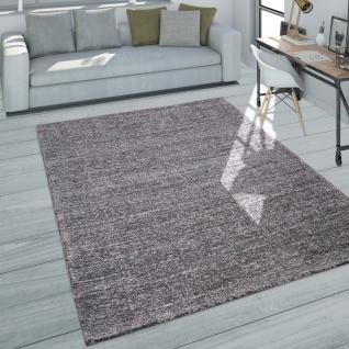 Teppich Wohnzimmer Kurzflor Modernes Meliertes Design In Dunkelgrau Grau