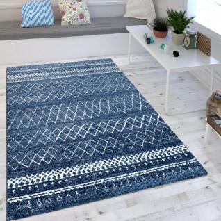 Wohnzimmer Teppich Blau Trend Modernes Skandinavisches Muster