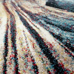 Wohnzimmer Teppich Bunt Abstraktes Muster 3-D Design Weich Robust Kurzflor - Vorschau 3