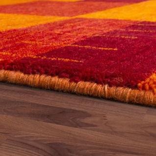 Teppich Handgewebt Gabbeh Hochwertig Meliert 100% Wolle Kariert Multicolor - Vorschau 2