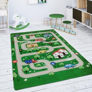 Kinderteppich Teppich Kinderzimmer Spielteppich Spielmatte Straßenteppich Grün
