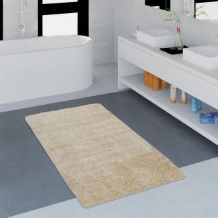 Moderner Badezimmer Teppich Einfarbig Microfaser Kuschelig Gemütlich In Beige