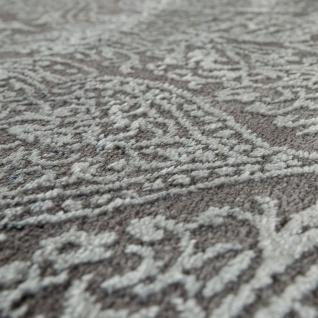 Moderner Kurzflor Wohnzimmer Teppich 3D Optik Orientalisches Muster In Grau Blau - Vorschau 3