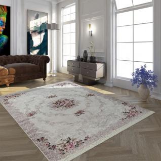 Moderner Teppich Mit Bedrucktem Trend Muster Orient Design In Beige Creme Rosa