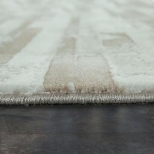Kurzflor Wohnzimmer Teppich Used Look Mit Naturstein Optik In Beige Creme - Vorschau 2
