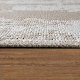 In-& Outdoor Teppich Balkon Küchenteppich Vintage Orient Muster Beige Creme - Vorschau 2