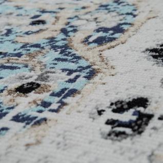 In- & Outdoor Teppich Modern Orient Design Terrassen Teppich Grau - Vorschau 3