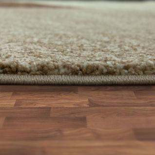 Designer Teppich Moderner Kurzflor Strick Optik Geomterische Muster Braun Beige - Vorschau 2