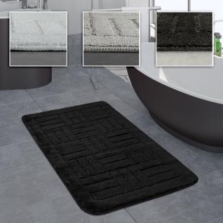 Badezimmer Teppich Badvorleger Kariertes Muster In Versch. Größen u. Farben