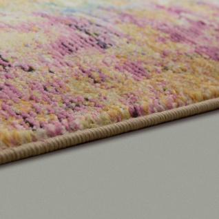 Designer Wohnzimmer Teppich Abstraktes Muster Pastellfarben Hochwertig Bunt - Vorschau 2