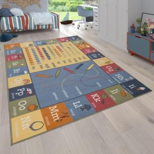 Kinder-Teppich, Teppich Mit Landschafts-Design und Lern-Motiven, Wendbar, Bunt
