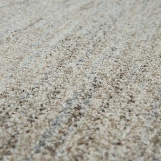 Wohnzimmer-Teppich, Einfarbiger Kurzflor Mit Velours-Gewebe, In Meliertem Beige - Vorschau 3