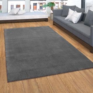 Teppich, Kurzflor-Teppich Für Wohnzimmer, Super Soft, Weich, Waschbar, In Dunkel Grau