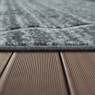 In- & Outdoor Terrassen Teppich Modernes Rauten Design Grau - Vorschau 2