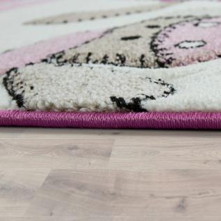Kinderteppich, Moderner Kinderzimmer Pastell Teppich, Niedliche 3D Tiermotive - Vorschau 5