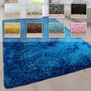 Hochflor Wohnzimmer Teppich Waschbar Shaggy Uni In Versch. Größen u. Farben
