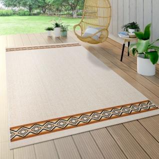 Outdoor Teppich Für Terrasse Und Balkon, Mit Geometrischem Muster, Modern, Beige
