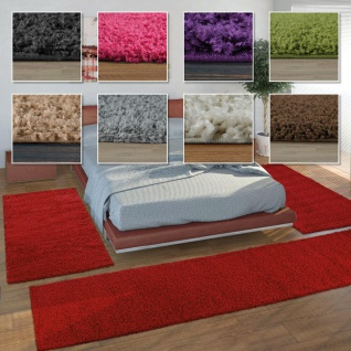 Hochflor Teppich Wohnzimmer Schlafzimmer Einfarbig Shaggy Weich Kuschelig Robust