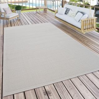 Outdoor Teppich Für Terrasse Und Balkon Küchenteppich Einfarbig Modern Creme Beige