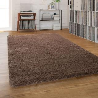 Hochflor-Teppich, Shaggy Waschbar Für Wohnzimmer Und Schlafzimmer, Einfarbig in Braun