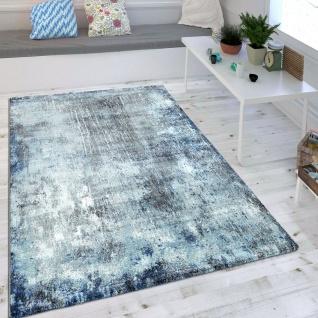 Wohnzimmer Teppich Blau Trend Modern Maritimer Stil Shabby Chic Design