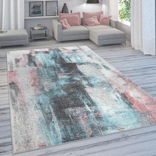Designer-Teppich Für Wohnzimmer, Pastellfarben, Farbverläufe, Abstrakt In Bunt