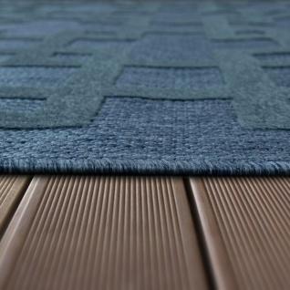 In- & Outdoor Terrassen Teppich Modernes Kreuz Muster In Blau - Vorschau 3