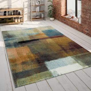 Teppich Wohnzimmer Blau Orange Bunt Gemälde Design 3-D Muster Kurzflor