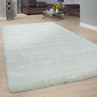 Hochflor Teppich Wohnzimmer Weiß Soft Weich Shaggy Robust Flauschig Kuschelig - Vorschau 1